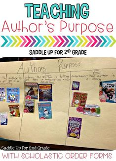 Don't throw those extra Scholastic order forms away. Use them to teach author's purpose. Come read all about it in this blog post.