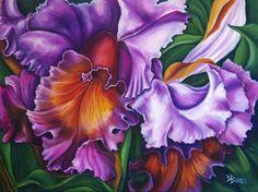 "Cattleya Orchid 24"" x 18"" Oil"