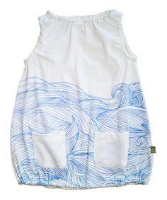 White Waves Noemi Organic Dress - Infant, Toddler & Girls #zulily #zulilyfinds