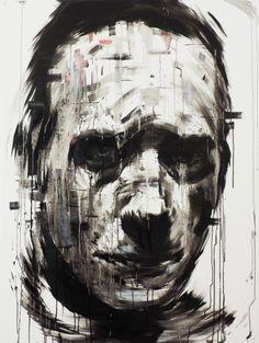 One of us- 2014 by Radan Cicen, via Behance. it's a pretty expressive portrait Portrait Inspiration, Painting Inspiration, Depression Art, Found Art, Expressive Art, A Level Art, Great Paintings, Rose Art, Black And White Portraits