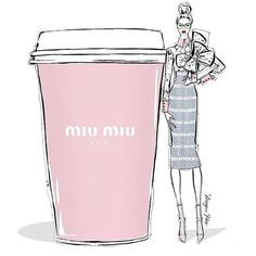 •.C O F F E E •  morning coffee looks so sweet & chick in Miu Miu ☕️