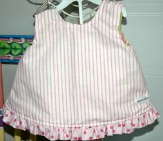 Reversible Dress & Bloomers 6/9 mo by mickiesmuse on Etsy, $38.00