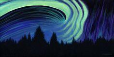 Northern Lights by Susan Christensen Aurora Borealis, Prince Edward Island, Arts Ed, Light Painting, Newfoundland, East Coast, Northern Lights, Art Gallery, Waves