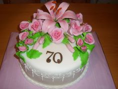cake flowers květinový dort