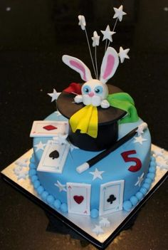 Magician theme Rabbit in a Hat cake.