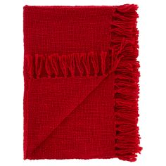 George Home Highland Fling Red Knit Throw | Bedding | ASDA direct