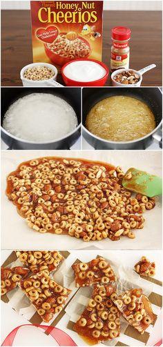 Honey Nut Cheerios Cinnamon Brittle #cheerios