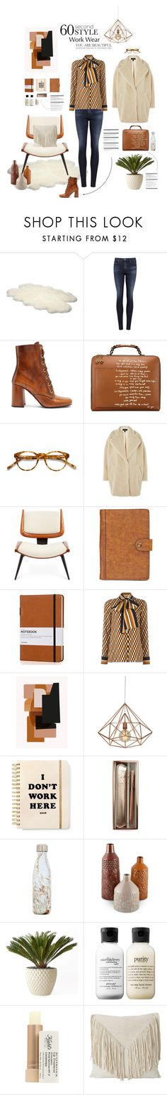 """Work wear 💼"" by deborah-lefert ❤ liked on Polyvore featuring UGG Australia, AG Adriano Goldschmied, Prada, Tory Burch, EyeBuyDirect.com, Topshop, Jonathan Adler, Patricia Nash, ferm LIVING and ban.do"