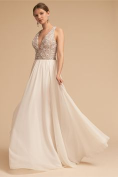 BHLDN Roxbury Gown Ivory  in  Bride | BHLDN