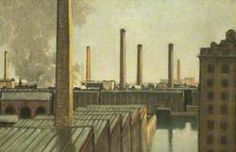 Seven Chimneys by Charles John Holmes. Date painted: early Urban Landscape, Landscape Art, Landscape Paintings, Painting Gallery, Painting Prints, Art Gallery, John Holmes, Oil Painting Reproductions, Chiaroscuro