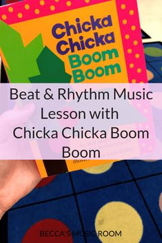 Beat and Rhythm Lesson for elementary music with Chicka Chicka Boom Boom. Looking for musical ways to use book in your elementary music classroom? This lesson teaches beat and rhythm with the beloved children's book, Chicka Chicka Boom Boom. It is perfect for kindergarten music or beginning of the year first grade music. And did I mention that it includes instruments? Because everything is better with instruments! Becca's Music Room