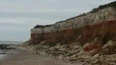 The cliffs at Hunstanton...