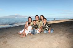 Beautiful family memories with beach photos. #maui
