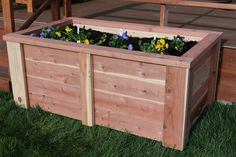 Learn how to build a raised garden bed out of 2x4 and 2x6 boards. The garden bed is about 2 feet tall so you will be able to garden comfortably without getting on your knees. This is a quick weekend project that will spruce up any yard.
