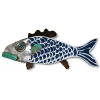 Fantasy Fish Wall Art - Branch of the Navy Seaside Home Decor, Coastal Decor, Fish Wall Art, Fish Art, Cottage Garden Sheds, Can Lids, Wood Fish, Coastal Colors, Patio Wall