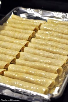 When I put Oven Baked Chicken Taquitos on the menu all my kiddos get so excited. I have been making these taquitos for a few years and they are always a crowd pleaser......a pinner says