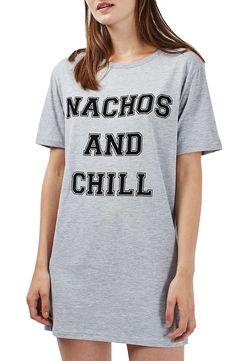 Topshop Nachos and Chill Sleep Shirt available at  Nordstrom Pink Tights 548aab6cf