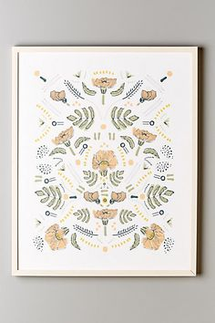 Poppies In Profile Print #anthropologie