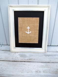 Nautical Decor / Nautical Nursery Wall Art / YOU CHOOSE Set of Two Burlap Art Prints / Lighthouse / Sailboat / Anchor