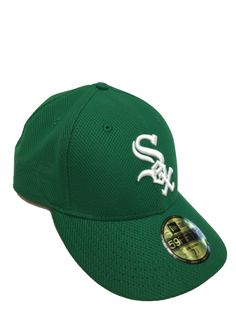 CHICAGO WHITE SOX KELLY GREEN DIAMOND ERA 59FIFTY FITTED HAT. St Patricks  Day ... 9e2327804