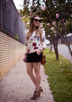 Look da Lu: floral #chatadegalocha