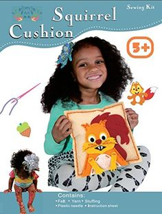 Kids' Felt Craft Kits - Sew and Stuff Kit Felt Squirrel Pillow Ideal Kids Craft Kit Includes all Supplies Fun Activity Ages 512 Arts and Crafts Woodland Animal Squirrel w Vibrant Colors Ideal Rainy Day Activity *** Read more reviews of the product by visiting the link on the image.