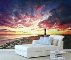 Île bretonne, pour une ambiance imprimée en haute définition. Couchée de soleil sur la mer.