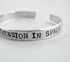 Time and Relative Dimension in Space - Hand Stamped Aluminum Cuff - customizable Gifts Under 20 on Etsy, $16.00
