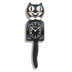 Classic Black Kit-Cat Clock by Kit-Cat Clocks - need one for our kitchen!