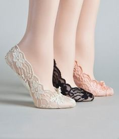 $6.00 Cushioned Sole Lace Foot Liners