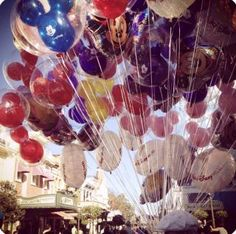 Getting to see all the balloons on Main Street at the opening of Magic Kingdom.