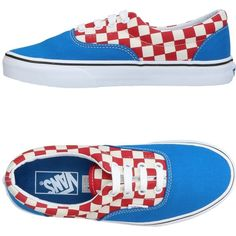 Vans Low-tops & Sneakers ($73) ❤ liked on Polyvore featuring shoes, sneakers, blue, vans sneakers, rubber sole sneakers, blue flat shoes, vans trainers and blue shoes
