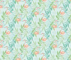 Flamingo fabric by mimi_oshi on Spoonflower - custom fabric