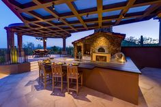 HGTV Fresh Faces of Design - Outdoor Living Elevated: Covered Patio Has Full Kitchen by Lori Carroll >> http://www.hgtv.com/design/fresh-faces-of-design/2015/outdoor-living-elevated?soc=pinterest