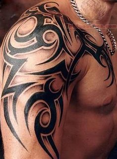 Tribal-Arm-Tattoo-for-Men | Tattoo Design and Ideas