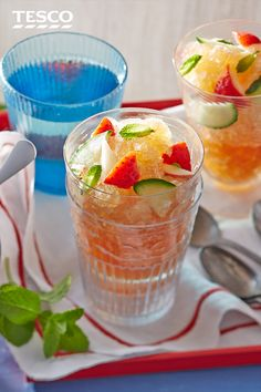 Try this frozen cocktail spin on Pimms, the iconic British summer drink. So simple to make, and refreshing to drink, it's served with the classic Pimms garnishes: fresh fruit, cucumber and mint. | Tesco