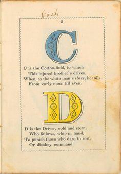 anti-slavery alphabet - C and D