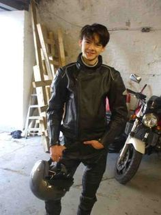 His hair's pretty cute. I think it's cool he enjoys motorcycles too.