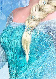 Elsa's dress details