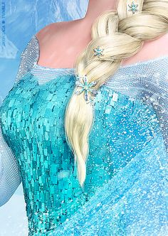 aliscenkhaw:  Elsa's dress details…LOOKIT! when wil i be able to texture and composite like them?!?! T.T And there are people complaining ab...