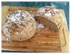 Koken en Kitch: Artisanaal SPELTHAVER broodje Kouign Amann, Piece Of Bread, Pudding, Healthy Baking, Half, Food, Water, Tin Loaf, Banana
