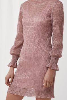 SHE'S GONE LONG SLEEVE DRESS mauve