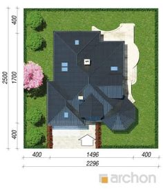 Projekt domu Dom pod juką 4 - ARCHON+ Picnic Blanket, Outdoor Blanket, Modern Bungalow House, Roof Plan, Roof Design, My Collection, Billionaire, Small Living, House Plans