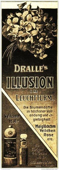 Original-Werbung/ Anzeige 1910 - PARFÜM / PARFUM - DRALLE´S ILLUSION IM…