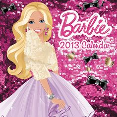 Barbie Mini Wall Calendar: This mini wall calendar for 2013 features Barbie in all her sparkle, glitter and glam. Enjoy a year's worth of Barbie and her fashion throughout the seasons.  http://www.calendars.com/ALL-Childrens-Toys/Barbie-2013-Mini-Wall-Calendar/prod201300002766/?categoryId=cat690024=cat690024#