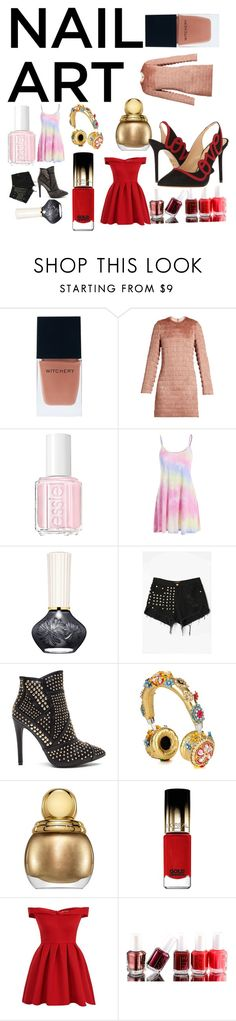 """""""Untitled #38"""" by layla1234lindsay ❤ liked on Polyvore featuring beauty, Witchery, Raey, Essie, WithChic, Dolce&Gabbana, Christian Dior, L'Oréal Paris, Chi Chi and Charlotte Olympia"""