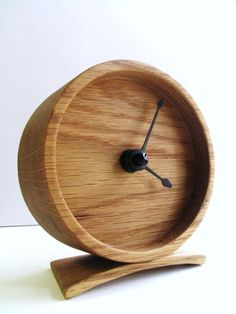 Wood Oak Clock by off cut studio