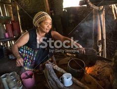 Asian lady cooking Lizenzfreies Foto
