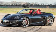 Porsche's deep-breathing soft-top gets the maker's first turbo four in 40 years. Supercars, Porsche 718 Boxster, 2016 Cars, Advanced Driving, Jaguar F Type, Motivation, Dream Cars, Vehicles, 40 Years