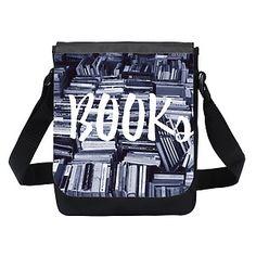 Kochasz książki? Ten dwustronny worek ze zdjęciem książek na pewno spełni wymagania każdego, nawet najbardziej zaczytanego obywatela Ziemi.